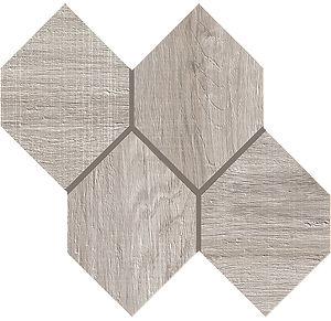Kenridge Grey Hexagon Mosaic Matte Porcelain Tiles
