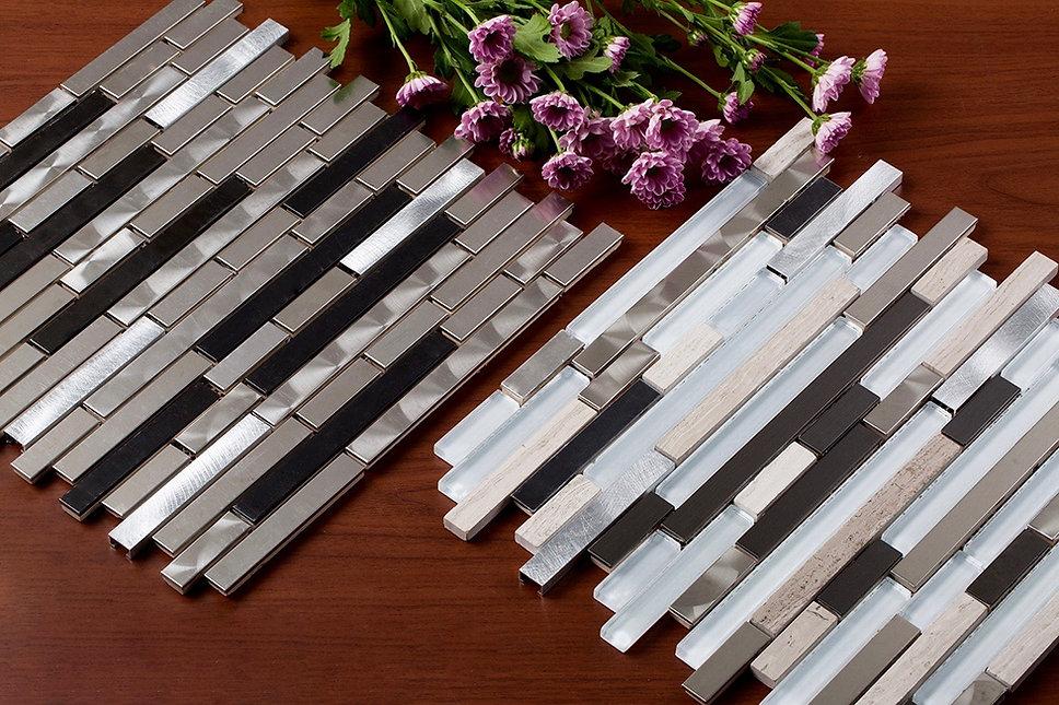 Mirrella Tile, Metal Mosaic Tiles