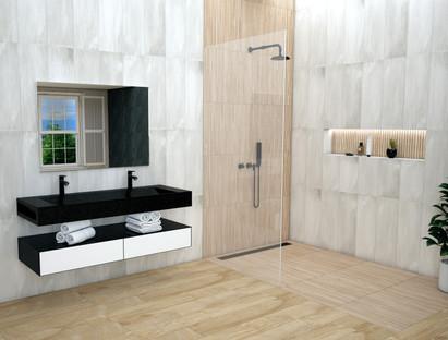 Kenridge Ribbon Maple and Concrete Look Tiles