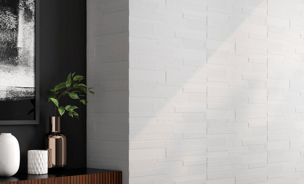 3-Dimensional White Tile - Candle Riva