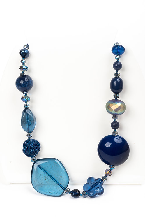 Collana beaded Blue