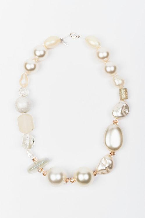 Collana beaded Pearl & Gold