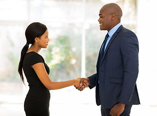 African American Man and woman professio