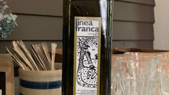 Hand pressed organic olive oil from a 4 acre orchard in Italy