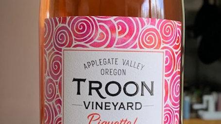 Troon Vineyard Piquette! unpretentious, dry, fruity, low alcohol