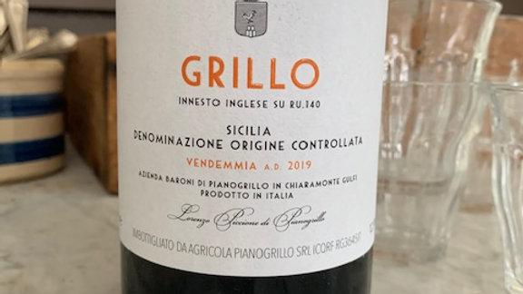 Pianogrillo Grillo, sea spray and bright golden Sicilian sunlight