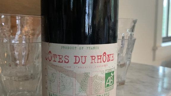 Vignerons Ardechois Côtes du Rhône Rouge- an easy glass of wine!