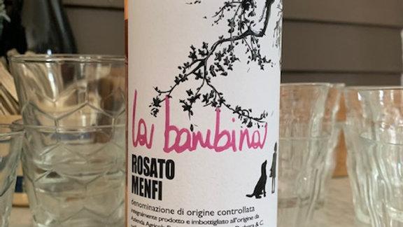 La Bambina Nero d'Avola Rosato Menfi, Sicily, wild berries, savory, fresh