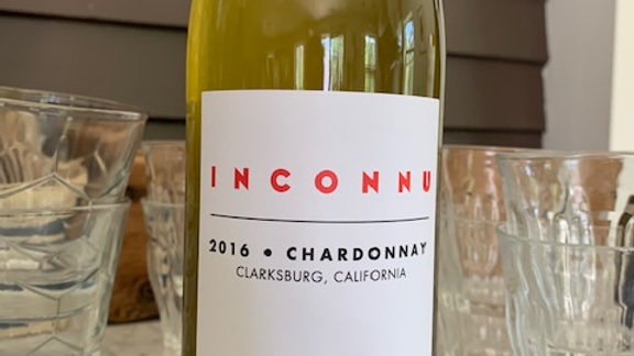 Inconnu Chardonnay, bright fresh and racy with a savory saltiness