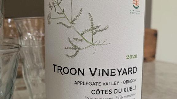 Troon Côtes du Kubli white blend-delicious and a bit magical