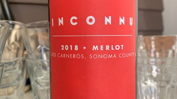 Inconnu Los Carneros Merlot from a badass woman winemaker in Napa