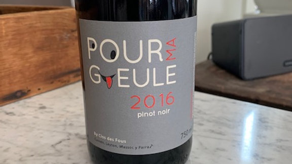 Pour ma Gueule Pinot Noir 2016 - dry, smooth and easy to drink