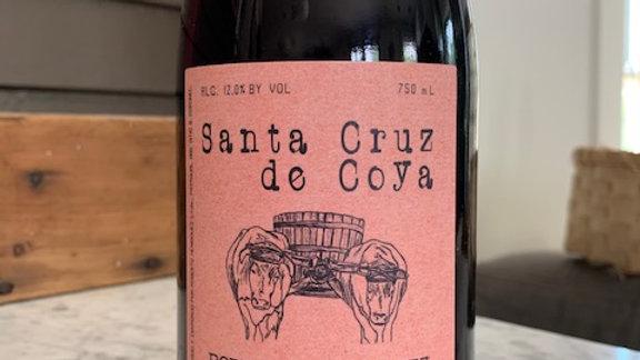 Santa Cruz de Coya, 100% Pais- bright, juicy, high acid, give it a light chill