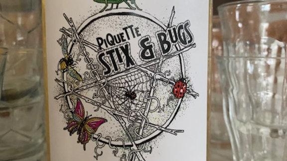 Sanctum Stix & Bugs Piquette White , clean, fizzy and fun! 8% alcohol