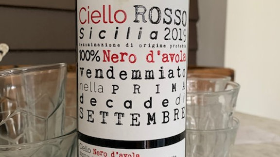 Ciello Sicilian Rosso - An anytime raw wine! extra food friendly