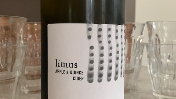 Limus apple quince cider - cloudy, tart, wild and funky
