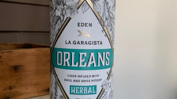 La Garagista Orleans Herbal -infused cider aperitif with basil and anise hysop
