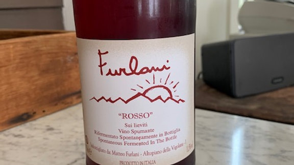 Furlani Rosso Spumante - dry, easy and super fun to drink