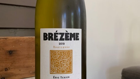 Texier Brezeme Blanc Roussanne 2017 - really hard to get, only have a few