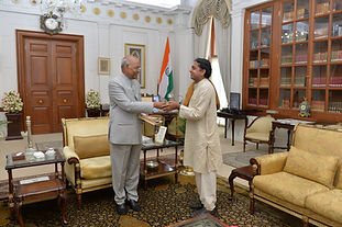 Hon Vivek ji meeting with President of India shri Ramnath Kovind ji