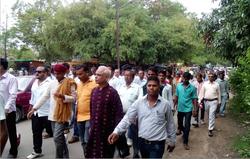 During Bharatpad yatra 2015