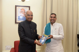 Vivek Ji meeting Hon President of India in Nagpur