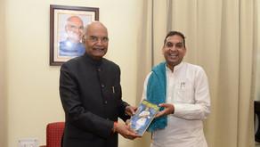 Vivek Ji meeting Hon President of India in Nagpur