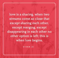 Love sharing
