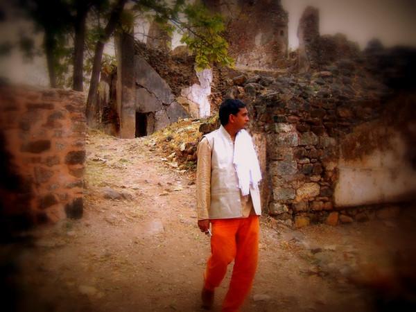 Vivek ji at Ruins of Indian heritage