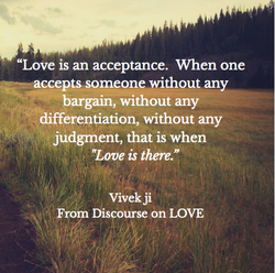 Love is an acceptance