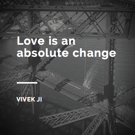 Love is an absolute