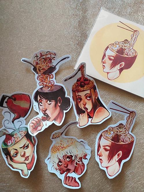 SURREAL PASTA - Sticker Set