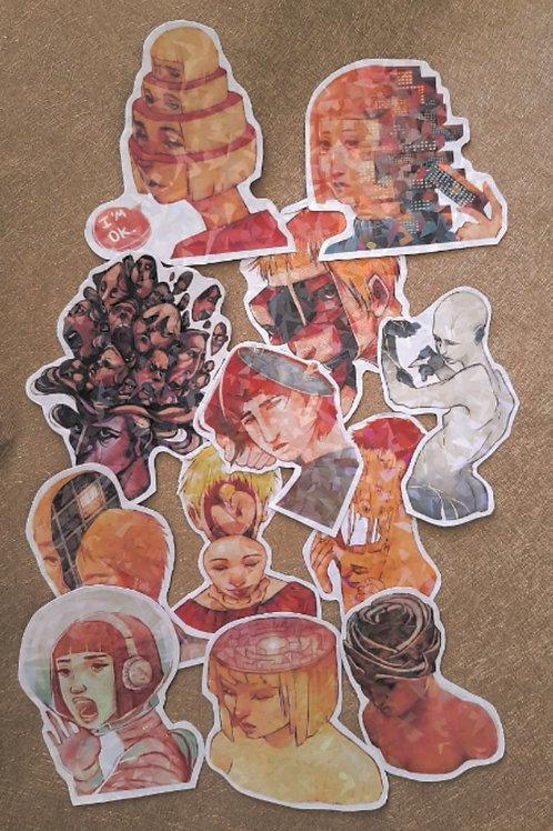 SURREAL HEADS - Sticker Set