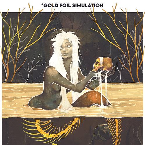 Skull Mermaid [GOLD FOIL]