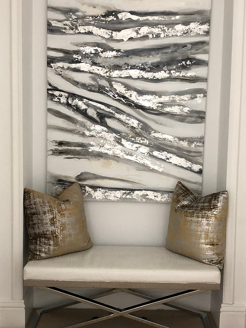 Metallic Ochre Accent Pillow