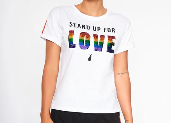 STAND UP FOR LOVE TEE AND SHORT SET