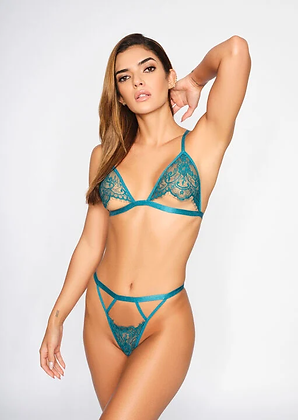 TEMPTING CROTCHLESS SET - Teal