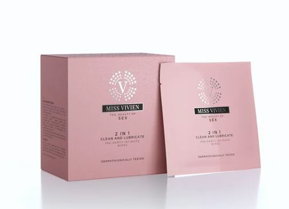 MISS VIVIEN 2 IN 1 PRE-PARTY INTIMATE WIPES