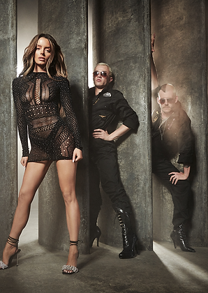 JEWELLED JANELLE DRESS - Black