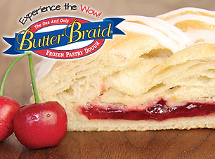 Cherry Butter Braid pastry nutrition info