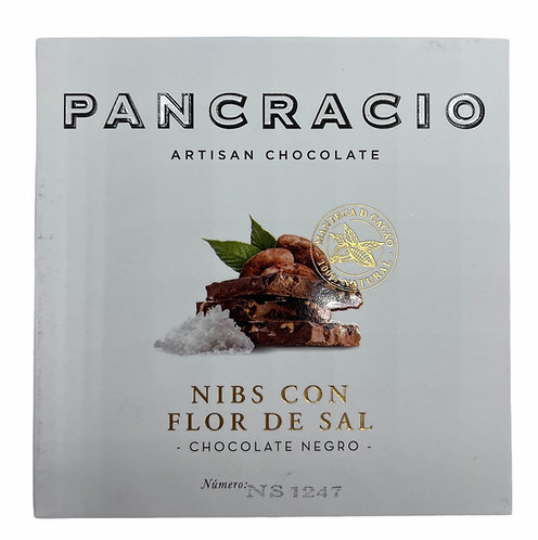 Pancracio Nibs con Flor de Sal Chocolate negro