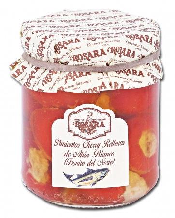 Pimientos Cherry Rellenos de Atun Blanco La Rosara