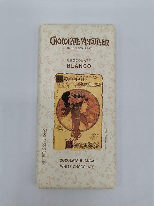 Chocolate Amatller.  Blanco