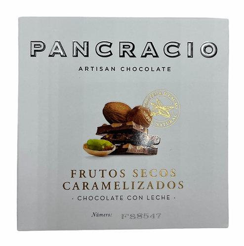 Pancracio Frutos Secos Caramelizados. Chocolate con leche