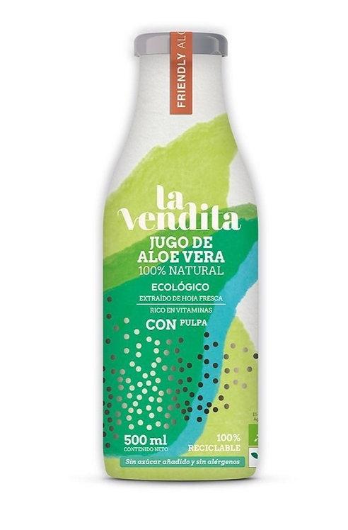 Jugo de Aloe vera ecológico con pulpa 500 ml
