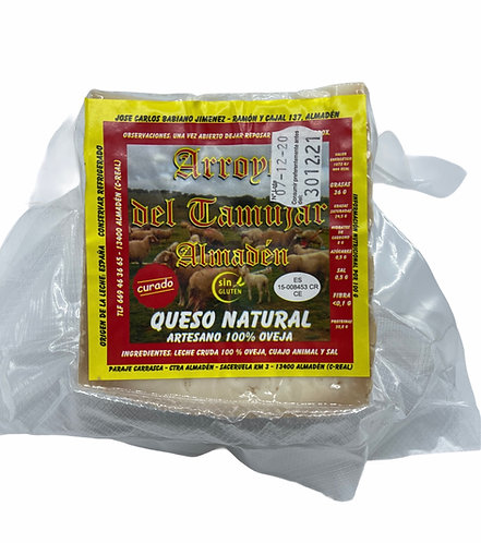 Cuña de Queso Curado artesano 100% Leche cruda de Oveja