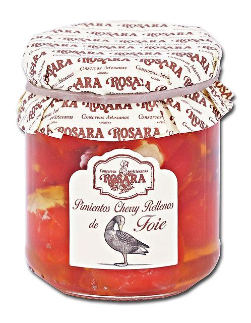 Pimientos cherry rellenos de Foie