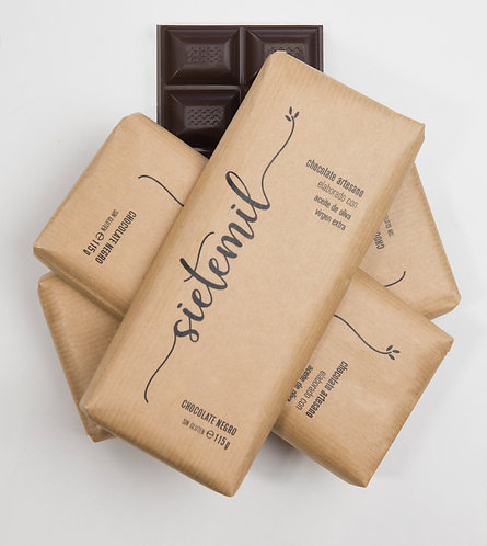 Sietemil Chocolate Artesano elaborado con Aceite de Oliva Virgen Extra. Chocolat