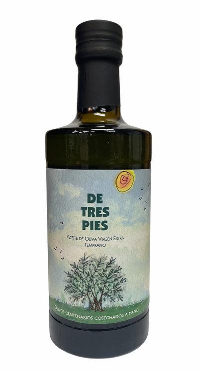 """AOVE """"DE TRES PIES"""" Picual Temprano 100% 500 ml"""
