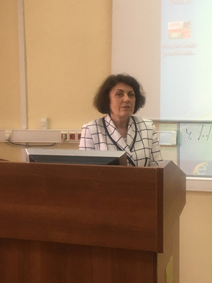 Ростовцева Л.И. на трибуне 14 мая 2019.J